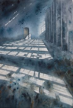 Théo SAUER | Société Française de l'Aquarelle Watercolor Architecture, Watercolor Landscape Paintings, Watercolor And Ink, Watercolor Illustration, Watercolour Painting, Painting & Drawing, Watercolors, Bd Art, Watercolor Techniques