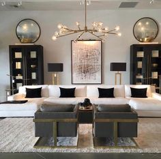 Making Your Living Room Look and Feel More Luxurious - Jessi.-Making Your Living Room Look and Feel More Luxurious – Jessica Elizabeth Make your living room look and feel more luxurious with these key design principles and ideas to consider - Gold Living Room, Black And Gold Living Room, House Interior, Luxury Living Room, Living Room Inspiration, Home, Interior, Luxury Living, Room Interior