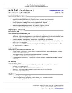 Senior Executive Assistant Office Of The Ceo Resume Example