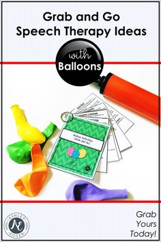 Speech Therapy Activities Balloon Grab and Go Social Skills Activities, Speech Therapy Activities, Language Activities, Receptive Language, Speech And Language, Executive Functioning, Children With Autism, Preschool Kindergarten, Therapy Ideas