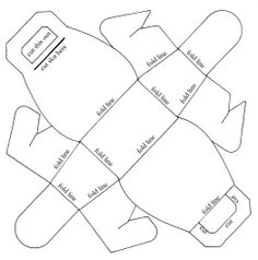 Paper template for bag, sito con tanti dowload da stampare su carta