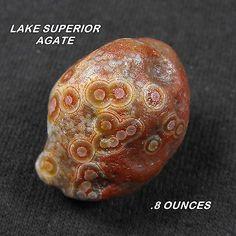 Lake Superior Agate>Killer Small Eye Agate .8oz!!!!