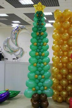 Christmas Balloons, Christmas Candles, Christmas Themes, Christmas Crafts, Christmas Decorations, Balloon Tree, Balloon Crafts, Love Balloon, Balloon Decorations Party
