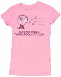 Get this today! Boys Are Stupid Throw Rocks At Them T-shirt! http://www.upyourtee.com/david_and_goliath_t_shirts_s/1850.htm