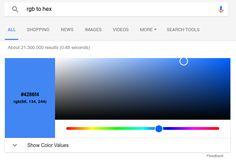 Cтроку для поиска Google научили конвертировать значения цветов