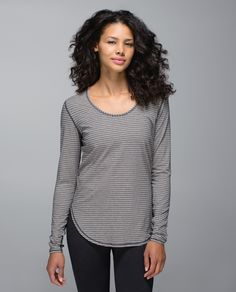 This relaxed-fit tee is the  layer we reach for again and again. Super soft Vitasea™ fabric has LYCRA® for great shape retention so we're free to fall in long-term love. Thumbholes help keep our sleeves down and  extra length means only we know we're wearing low-rise pants.