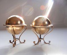 Mega Rare Edward San Giovanni Antique Gilt Sterling Silver Salt & Pepper Shakers #EdwardSanGiovanni