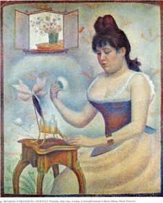 Young Woman Powdering Herself - Georges Seurat, 1889-90