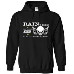 BAIN Rules T Shirts, Hoodies. Check price ==► https://www.sunfrog.com/Camping/1-Black-80808885-Hoodie.html?41382