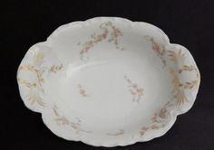 "Antique Haviland, Norma 10"" Oval Vegetable Bowl in Schleiger 233-1, White #HavilandCo"