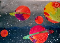 Space art projects for preschool 33 Ideas Winter Art Projects, Art Projects For Adults, Space Crafts For Kids, Art For Kids, Outer Space Facts, Planet For Kids, Teen Art, Galaxy Art, Space Theme