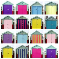 Brighton Beach huts - such a lovely array of colour!  @thetravelbunny Instagram photos | Websta (Webstagram)