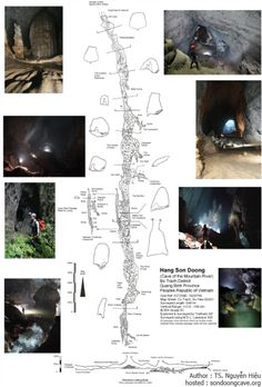 Son Doong cave is more than 200 meters wide, 150 meters high, and approx 9 kilometers long. Map of Son Doong cave is outlined by Dr.Nguyen Hieu after cave exploring trip Vacation Places, Vacation Destinations, Places To Travel, Places To Go, European Travel, Asia Travel, Vietnam Cave, Vietnam Vacation, Imagine Nation