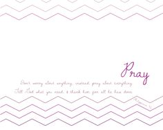 Free Printable Prayer Reminder Board Templates & Instructions #chevron