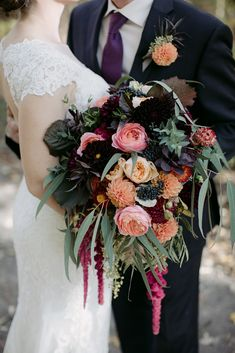 Artistic, naturally inspired weddings, fine gardening and landscape design. Floral Wedding, Wedding Bouquets, Wedding Flowers, Wedding Dresses, Woodland Wedding, Autumn Wedding, Fall Flowers, Pretty Flowers, Wedding Styles