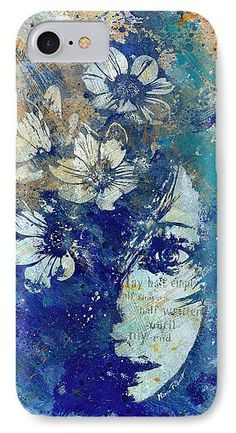 """My Great Devastator II"" • Hard case for Iphone and Samsung Galaxy. Flower girl graffiti portrait painting. • Ritratto graffiti di ragazza con fiori. • Fineartamerica, Pixels.com, smartphone, tech, phone, cases, technology, print."