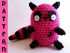 Crochet Amigurumi Zombie Raccoon Plush Pattern - lauriegorexx @ Etsy