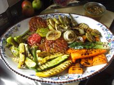 Grilled veg from a farm in England.