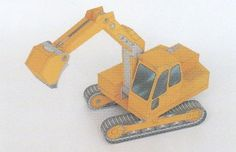 Crawler-Mounted Excavator Free Construction Vehicle Paper Model Download - http://www.papercraftsquare.com/crawler-mounted-excavator-free-construction-vehicle-paper-model-download.html#ConstructionVehicle, #Crawler, #Excavator, #VehiclePaperModel