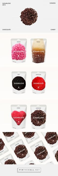 SUGARLOVE packaging on Behance by Alaa Abuamra curated by Packaging Diva PD. Sugar Love (Design Concept) is for customers with an unappeasable sweet-tooth moi : )