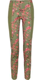 Thakoon Addition Floral-print stretch-cotton twill pants