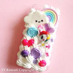 Tokidoki Unicorno inspired Kawaii Decoden Phone case for IPhone 4/4s 5 Samsung Galaxy S2 S3 S4 Mini Ace and other
