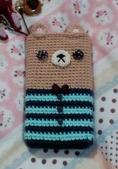 Atelier | · handicraft sewing-knitting | knitting | How to make mobile cover bears