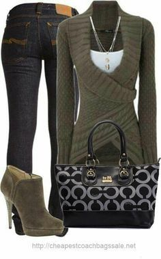 Cute Outfit For Winter Season This awesome outfit with cute winter sweater, blue jeans, handbag and superb heels. Just perfect outfit for winter. Stylish Outfits, Fall Outfits, Summer Outfits, Cute Outfits, Stylish Clothes, Look Fashion, Kids Fashion, Womens Fashion, Friends Fashion
