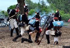 American skirmish line Battle of Forty Mile Creek