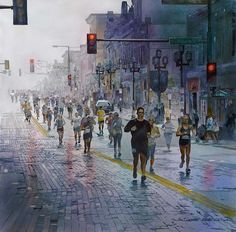 John Salminen's Watercolor Paintings Of Urban Landscapes