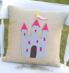 Use the castle as a template to make a Christmas ornament out of felt for little princess.