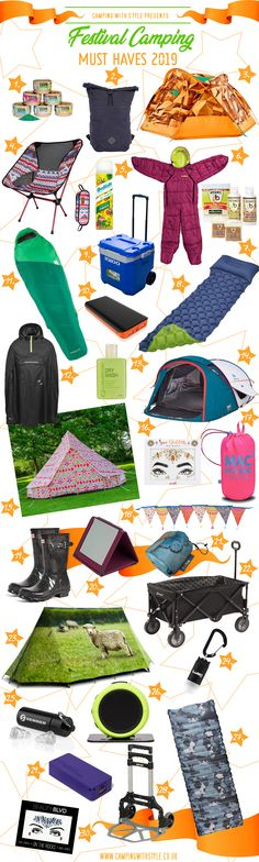 CAMPING | 30 Festival Camping Must Haves 2019 | Camping Blog Camping with Style | Active, Outdoors & Glamping Blog  #camping #campers #camp #campingwithstyle #campinggear #tents #festival #festivalseason #festivalcamping