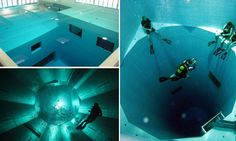 Fancy a dip? The world's deepest swimming pool which descends 113 feet and contains a whopping 660,500 gallons of water