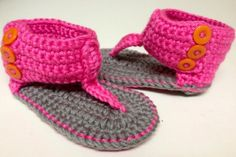 Pink Crochet Baby Girl Sandals from 10 Tiny Toes, Inc.