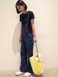 潮田あかりさんの「無印Tシャツ(無印良品)」を使ったコーディネート