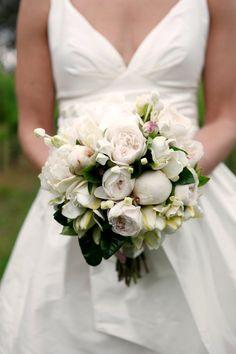 Poenies, david austen roses, gardenias, bouvardia