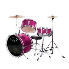 Amazon.com: GP Percussion GP50MPK Complete Junior Drum Set (Pink, 3-Piece Set): Musical Instruments