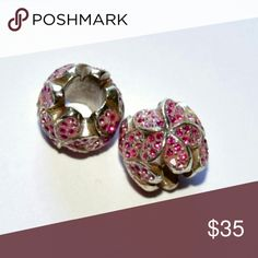 2 New Brighton pink glitz floral beads 2 New Brighton pink glitz floral beads. Retail price is $41 each Brighton  Jewelry