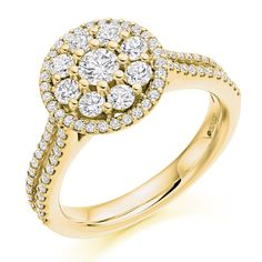 Micro Claw Set 1.00ct Round Brilliant Cut Diamond Cluster Ring | Reppin & Jones Jewellers