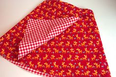 Reversible Wrap Skirt good idea for kids no elastic, buttons or zipper  my kind of sewing