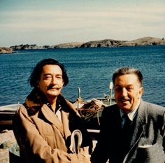 Salvador Dalí and Walt Disney by the beach in Spain in 1957.