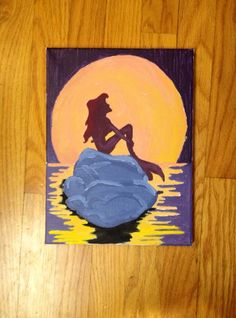 Little Mermaid painting by SouthernClothCo on Etsy