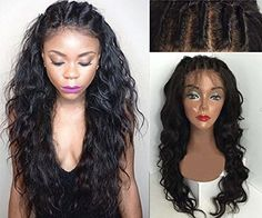 "Sunwell 6A Grade Brazilian Virgin Human Hair Glueless Lace Front Wigs For Black Women NEW DESIGN - Wet & Wavy, (#1, 8"")"