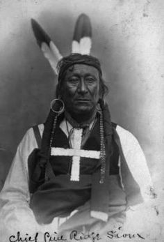 Native American (Oglala Sioux) man, identified as Young Man Afraid Of His Horses