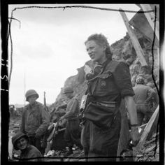 Lee Miller at the fortress of St Malo, August 1944