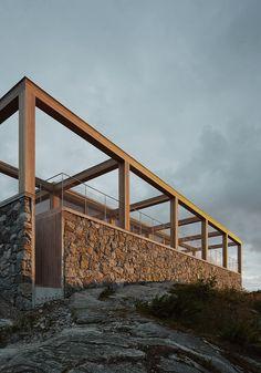 Image 2 of 11 from gallery of Island Houses / Tham & Videgård Arkitekter. Photograph by Tham & Videgård Arkitekter Mediterranean Architecture, Tropical Architecture, Art And Architecture, House Deck, Woods, Exterior, Outdoor Structures, House Design, Island