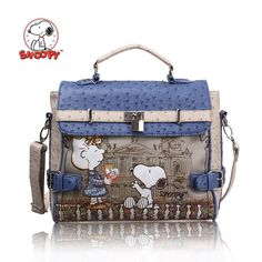 hot sales 2014 new fashion snoopy women's handbags messenger bags famous brand & Genuine leather bags free shipping s7031-29 US $38.80 aliexpress.com