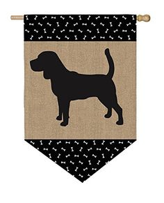 Monogrammed Lab/Dog Burlap Garden Flag Personalized With Name | Garden Flags  | Pinterest | Burlap Garden Flags, Burlap And Flags