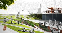 MTStudio, simone vigliotti · Riqualificazione del sistema dei parchi urbani. Ciriè · Divisare