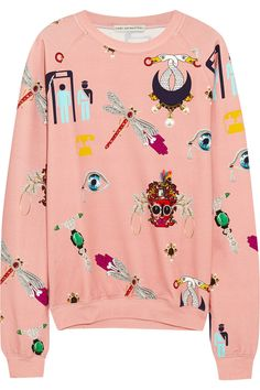 Mary Katrantzou | Printed stretch-cotton jersey sweatshirt | NET-A-PORTER.COM